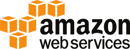 amazon web services button - links to amazon web services